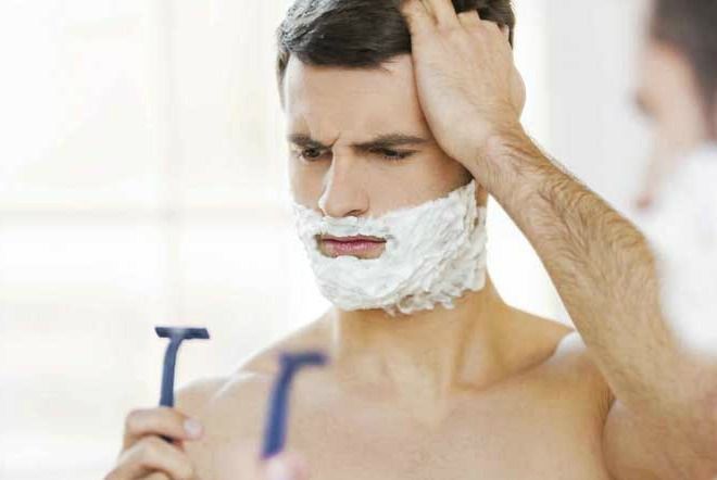 Shaving, routines and mens skin care troubles